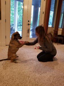 Marcella and her dog Murdoch