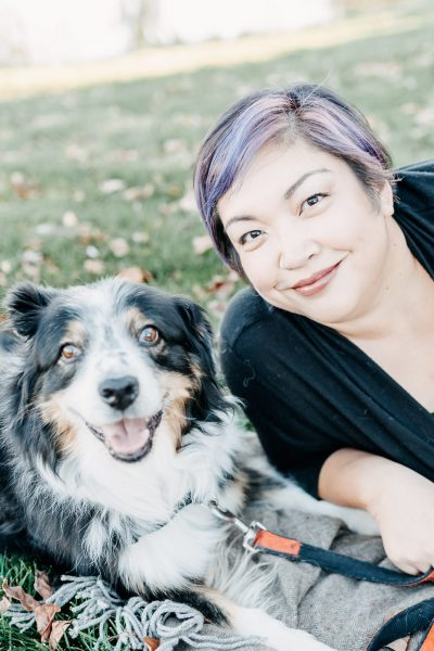 Shawna with her dog